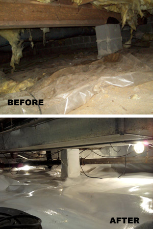 Closing crawlspace vents during south dakota winter for Crawlspace foundation