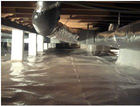 crawl space encapsulation cures wet crawl spaces in South Dakota